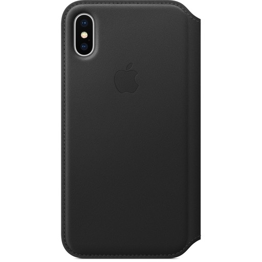 Apple Apple iPhone X Leather Folio - Black