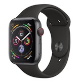 Apple AppleWatch Series4 GPS+Cellular, 44mm Space Grey Aluminium Case with Black Sport Band