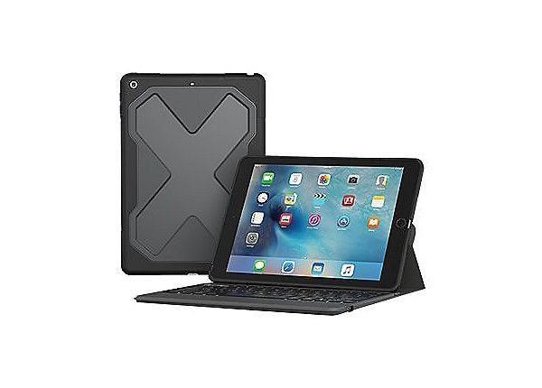 ZAGG Rugged Messenger- Keyboard for Apple iPad 10.2 - Black