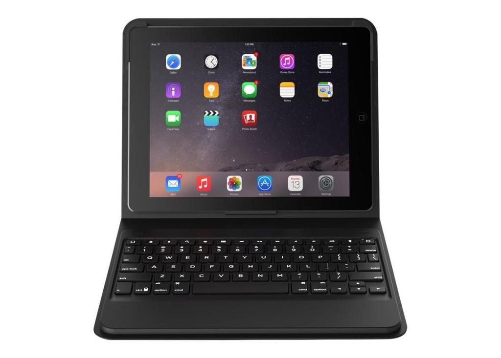 ZAGG Messenger Folio- Keyboard for Apple 10.5-inch iPad Pro, 10.2-inch iPad, iPad Air 3 - Black