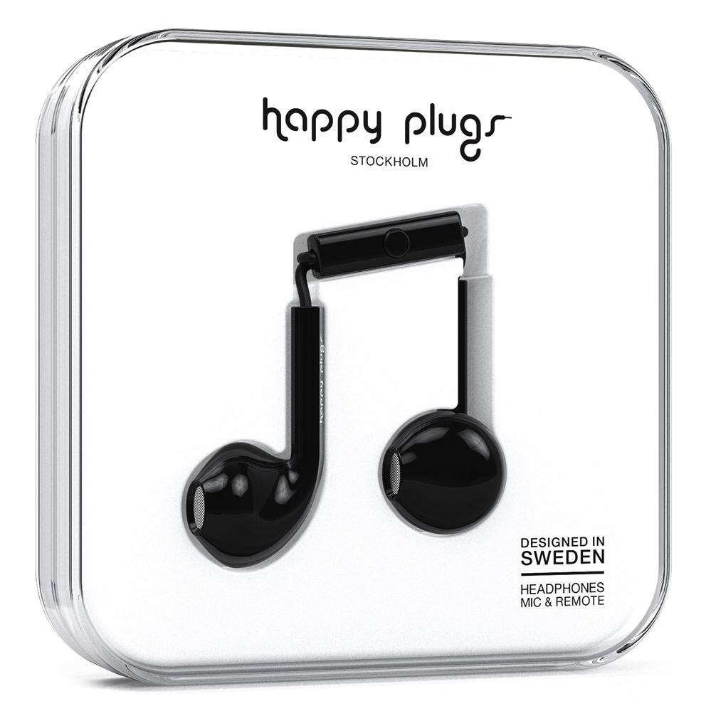 Happy Plugs Happy Plugs Earbud Plus with Remote & Mic - Black