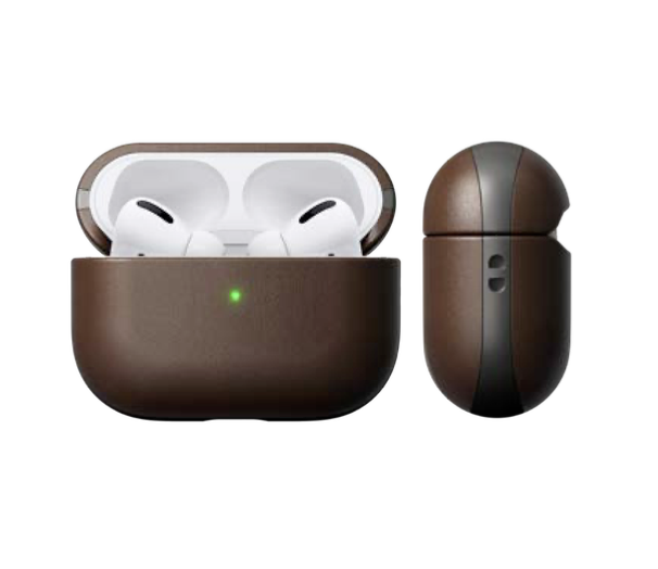 Nomad Nomad Rugged Leather Case for AirPod Pro - Brown