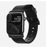 Nomad Nomad 44mm/42mm Modern Strap for Apple Watch - Black Hardware / Black Leather
