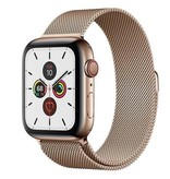 Apple Apple Watch Series 5 GPS + Cellular, 44mm Gold Stainless Steel Case with Gold Milanese Loop - Open Box