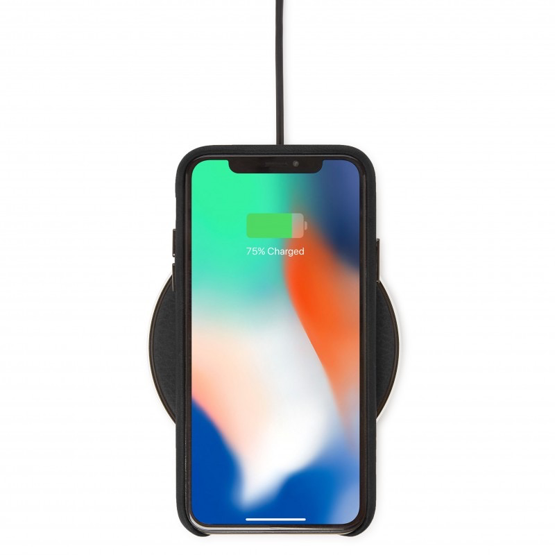Decoded Leather Wireless 10W Qi Charger - Black