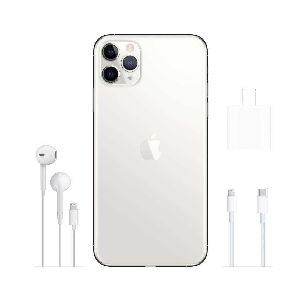 Apple iPhone 11 Pro Max 64GB Silver (includes EarPods and charger)