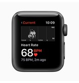 Apple AppleWatch Series3 GPS, 38mm Space Grey Aluminium Case with Black Sport Band