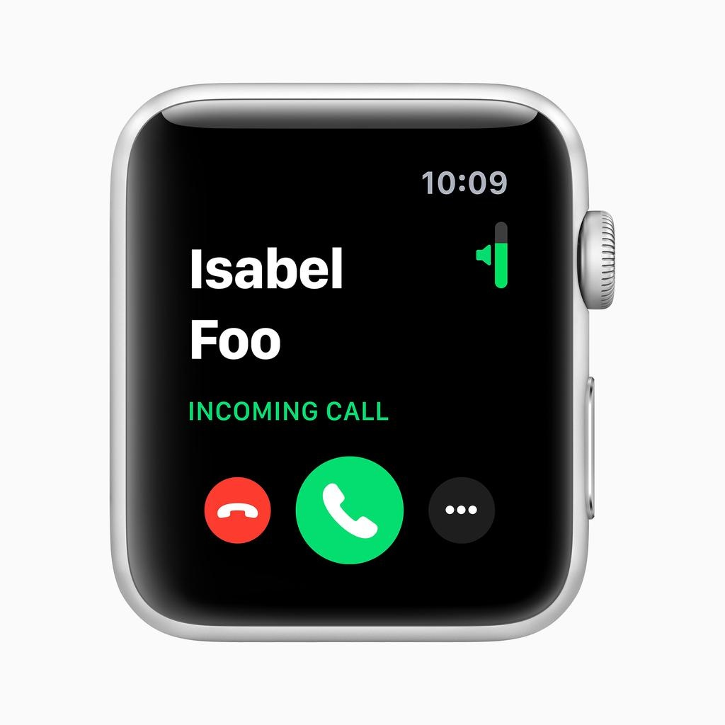 Apple AppleWatch Series3 GPS, 42mm Silver Aluminium Case with White Sport Band