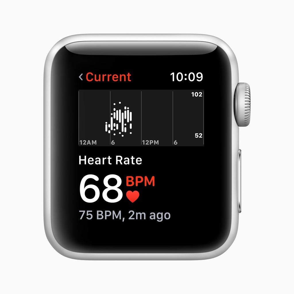 Apple AppleWatch Series3 GPS, 38mm Silver Aluminium Case with White Sport Band