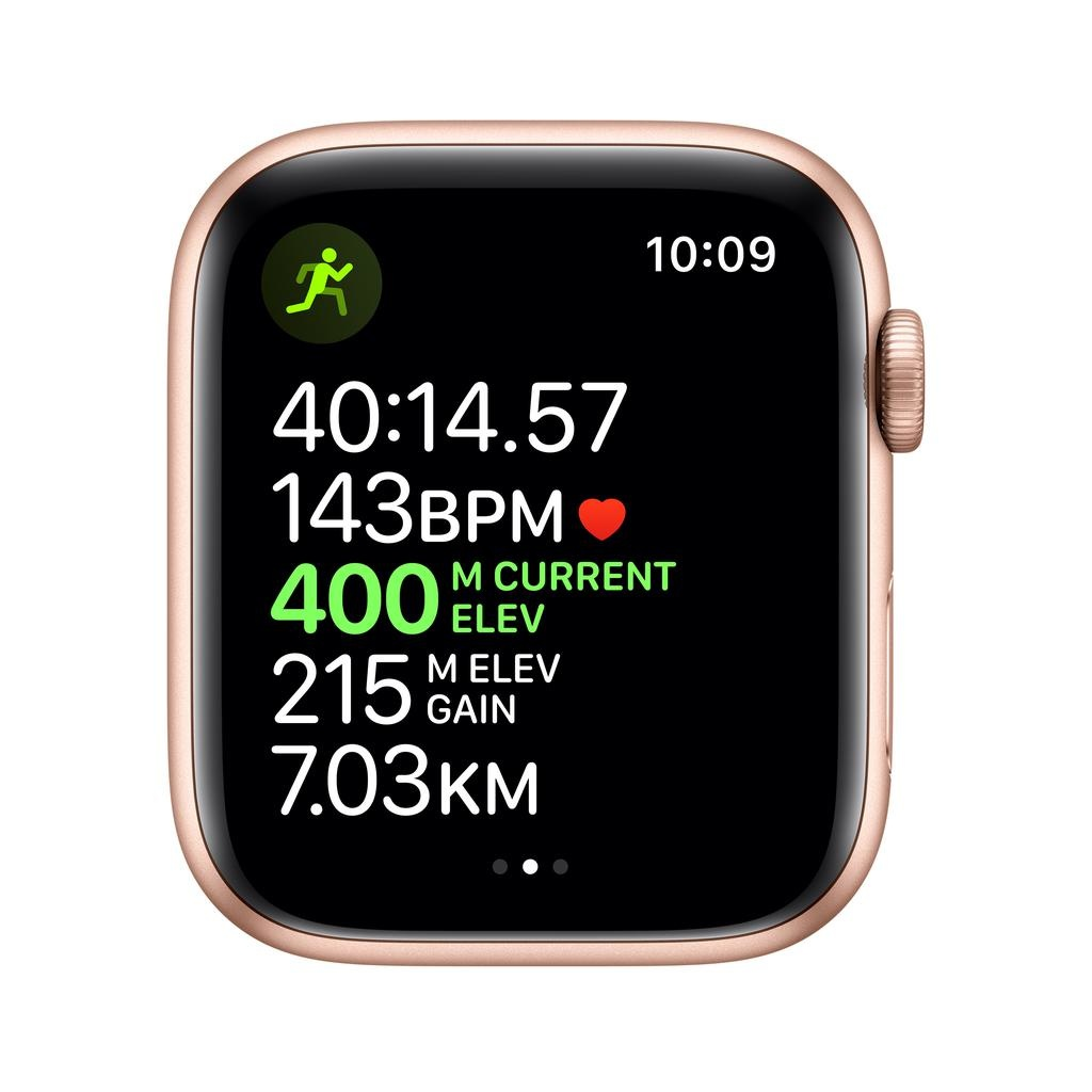 Apple Apple Watch Series 5 GPS, 44mm Gold Aluminium Case with Pink Sand Sport Band