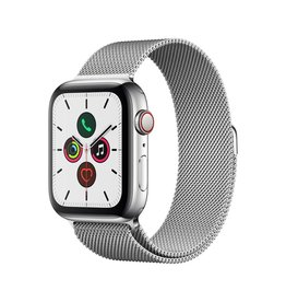 Apple Apple Watch Series 5 GPS + Cellular, 44mm Stainless Steel Case with Stainless Steel Milanese Loop (Open Box)