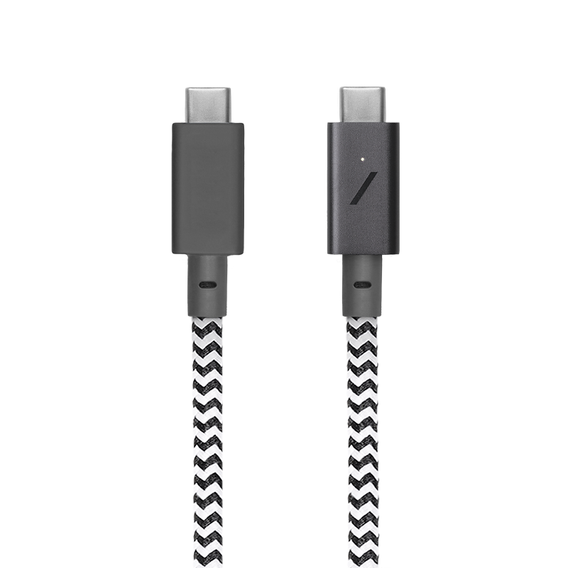 Native Union Native Union 2.4M USB-C to USB-C Charging Cable - Zebra