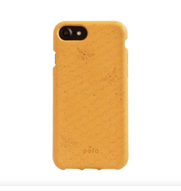 Pela Pela Compostable Eco-Friendly Protective Case for iPhone SE (2020)/8/7/6S/6 - Yellow Honey Bee