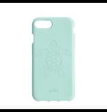 Pela Pela Compostable Eco-Friendly Protective Case for iPhone SE (2020)/8/7/6S/6 - Turquoise Turtle