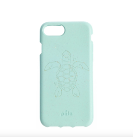Pela Pela Compostable Eco-Friendly Protective Case for iPhone SE (2020)/8/7/6S/6 - Turquoise Turtle