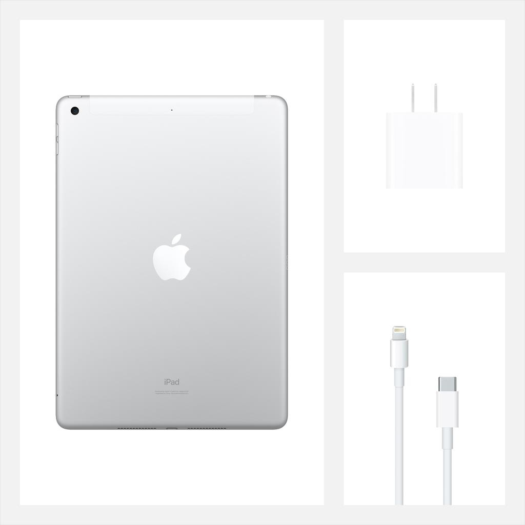 Apple NEW 10.2-inch iPad Wi-Fi + Cellular 128GB (8th Gen) - Silver