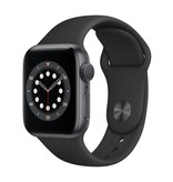 Apple Series 6 GPS, 44mm Space Gray Aluminium Case with Black Sport Band