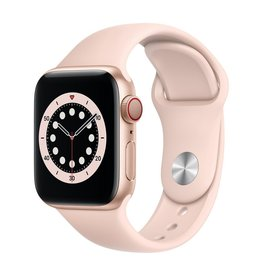 Apple Series 6 GPS + Cellular, 40mm Gold Aluminium Case with Pink Sand Sport Band