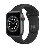 Apple Series 6 GPS + Cellular, 40mm Space Gray Aluminium Case with Black Sport Band