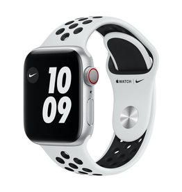 Apple Nike Series 6 GPS + Cellular, 40mm Silver Aluminium Case with Pure Platinum/Black Nike Sport Band