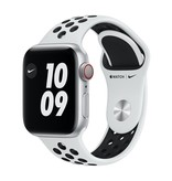 Apple Nike Series 6 GPS + Cellular, 44mm Silver Aluminium Case with Pure Platinum/Black Nike Sport Band