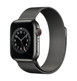 Apple Series 6 GPS + Cellular, 40mm Graphite Stainless Steel Case with Graphite Milanese Loop