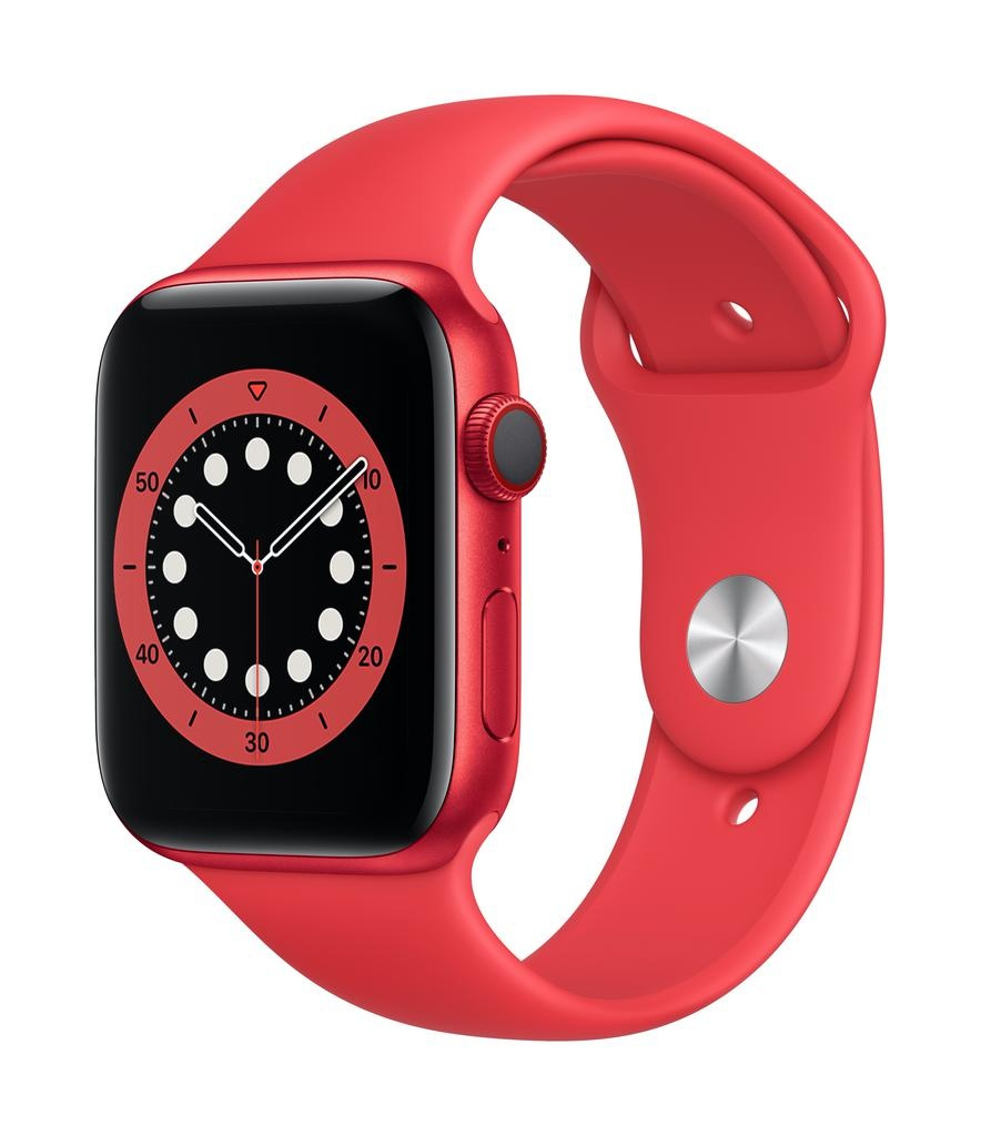 Apple Series 6 GPS + Cellular, 44mm PRODUCT(RED) Aluminium Case with PRODUCT(RED) Sport Band