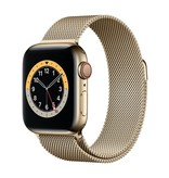 Apple Series 6 GPS + Cellular, 44mm Gold Stainless Steel Case with Gold Milanese Loop