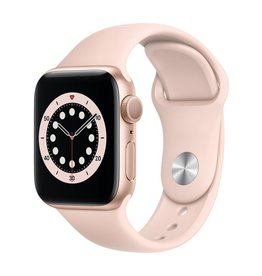 Apple Series 6 GPS, 40mm Gold Aluminium Case with Pink Sand Sport Band