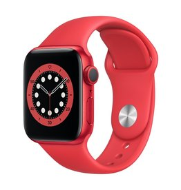 Apple Series 6 GPS, 40mm PRODUCT(RED) Aluminium Case with PRODUCT(RED) Sport Band