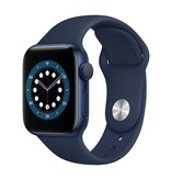 Apple Series 6 GPS, 44mm Blue Aluminium Case with Deep Navy Sport Band