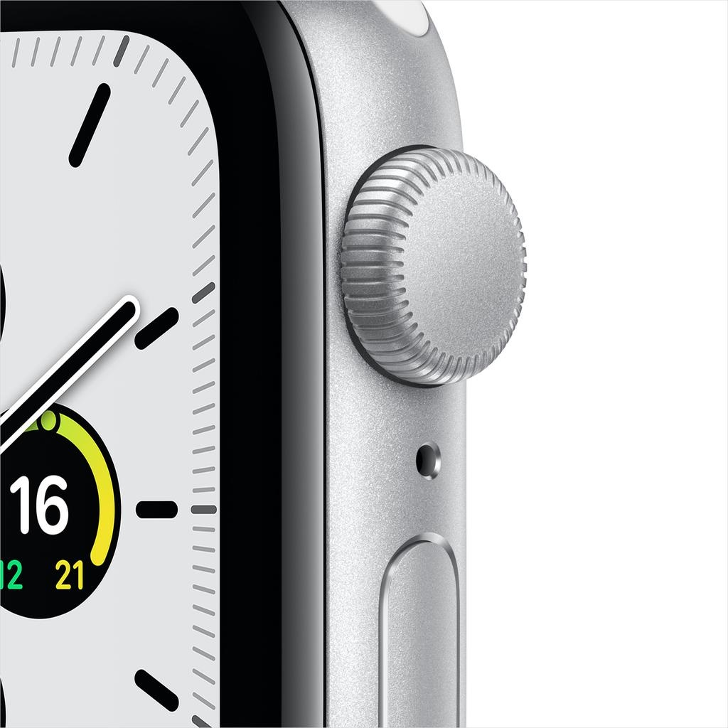 Apple SE GPS, 40mm Silver Aluminium Case with White Sport Band