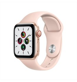 Apple SE GPS + Cellular, 40mm Gold Aluminium Case with Pink Sand Sport Band