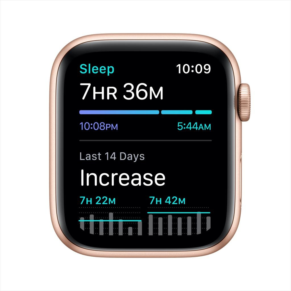 Apple SE GPS, 44mm Gold Aluminium Case with Pink Sand Sport Band