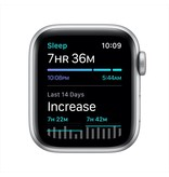 Apple SE GPS + Cellular, 40mm Silver Aluminium Case with White Sport Band