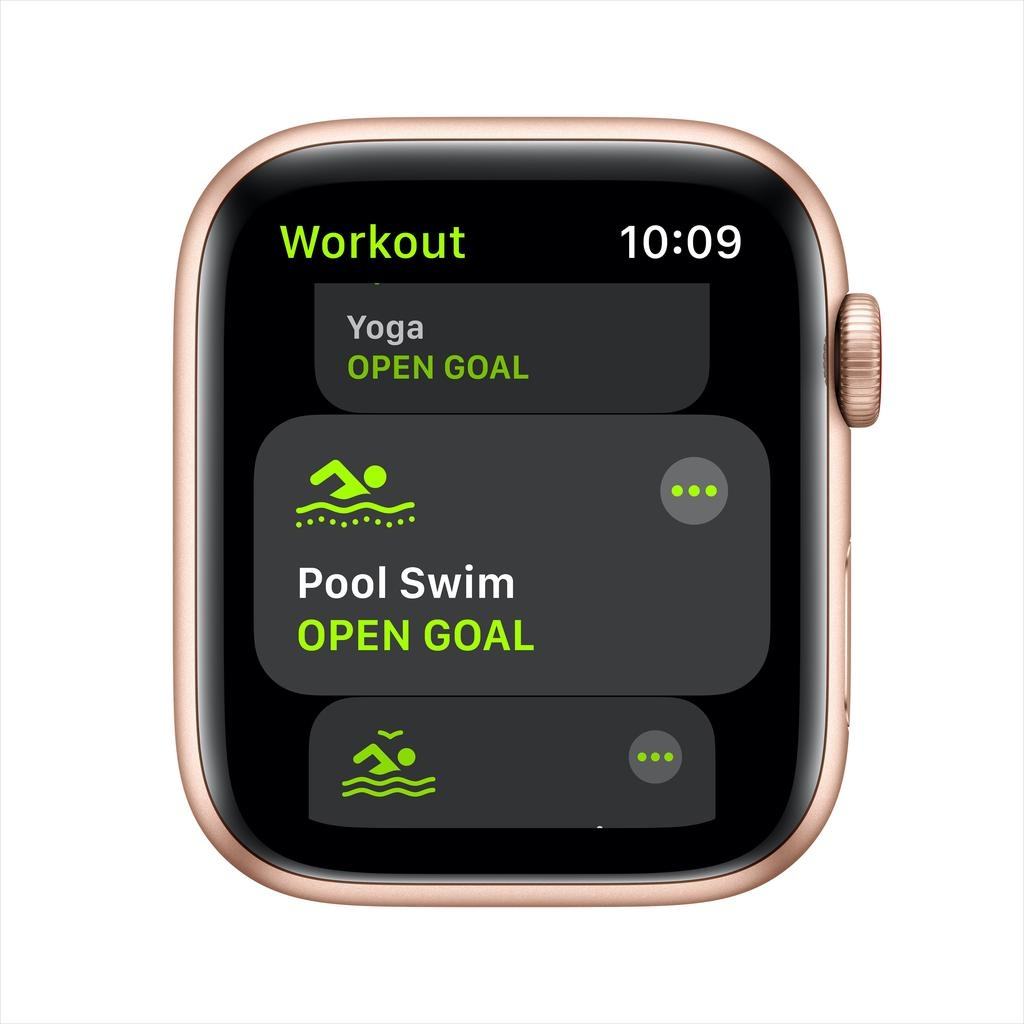 Apple SE GPS + Cellular, 44mm Gold Aluminium Case with Pink Sand Sport Band
