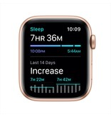 Apple SE GPS + Cellular, 44mm Gold Aluminium Case with Plum Sport Loop