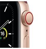 Apple SE GPS + Cellular, 40mm Gold Aluminium Case with Plum Sport Loop