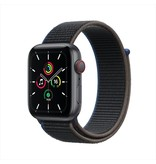 Apple SE GPS + Cellular, 44mm Space Gray Aluminium Case with Charcoal Sport Loop
