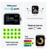 Apple Nike SE GPS + Cellular, 44mm Silver Aluminium Case with Pure Platinum/Black Nike Sport Band