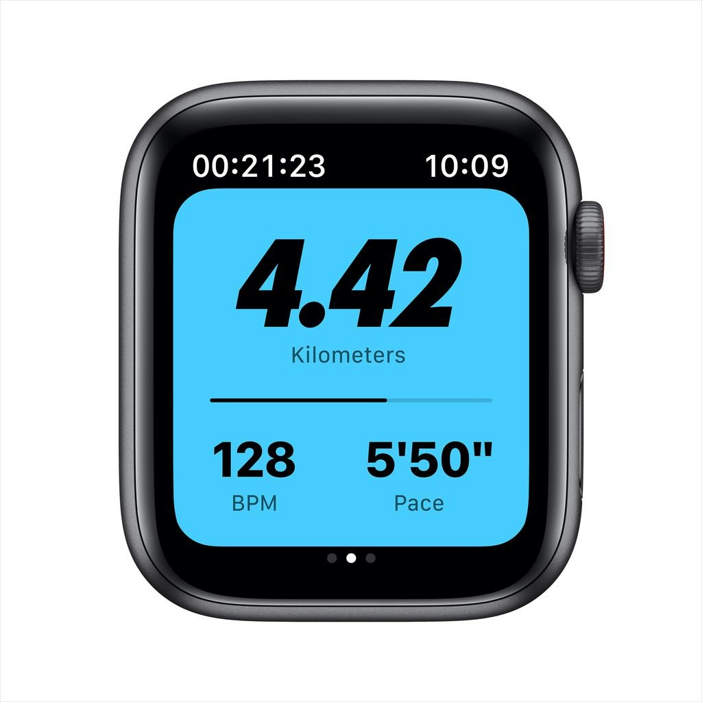 Apple Nike SE GPS + Cellular, 44mm Space Gray Aluminium Case with Anthracite/Black Nike Sport Band