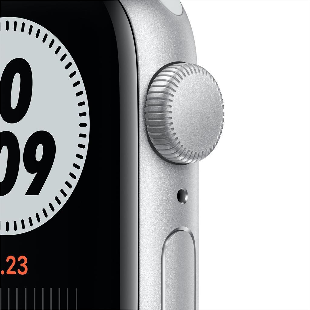 Apple Nike SE GPS, 40mm Silver Aluminium Case with Pure Platinum/Black Nike Sport Band