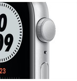 Apple Nike SE GPS, 44mm Silver Aluminium Case with Pure Platinum/Black Nike Sport Band