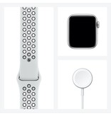 Apple Nike SE GPS + Cellular, 40mm Silver Aluminium Case with Pure Platinum/Black Nike Sport Band