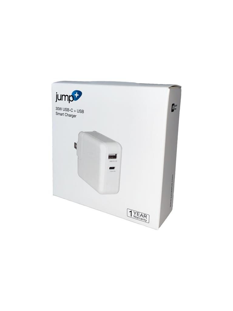 Jump Jump+ 30W USB-C + USB-A Power Adapter