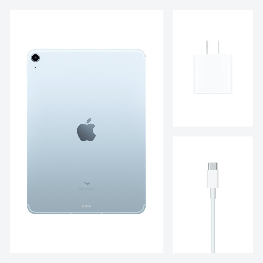 Apple NEW 10.9-inch iPad Air Wi-Fi + Cellular 256GB (4th Gen) - Sky Blue