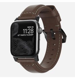Nomad Nomad 44mm/42mm Traditional Strap for Apple Watch - Black Hardware / Brown Leather