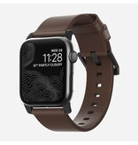 Nomad Nomad 44mm/42mm Modern Strap for Apple Watch - Black Harware / Brown Leather