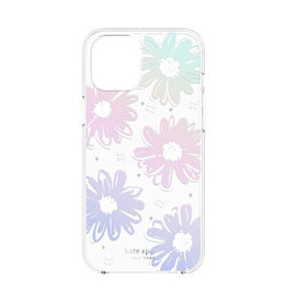kate spade new york kate spade Protective Hardshell Case for iPhone 12 / 12 Pro - Daisy Iridescent Foil