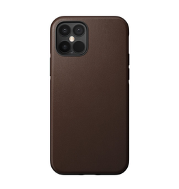 Nomad Nomad Rugged Leather Case for iPhone 12 / 12 Pro - Rustic Brown